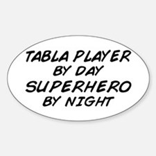 Tabla Plyr Superhero by Night Oval Stickers