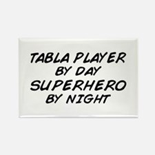 Tabla Plyr Superhero by Night Rectangle Magnet