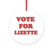 Vote for LIZETTE Ornament (Round)