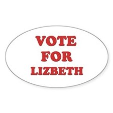 Vote for LIZBETH Oval Decal