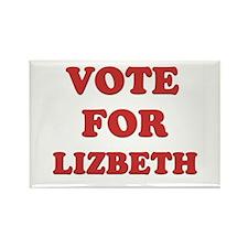 Vote for LIZBETH Rectangle Magnet