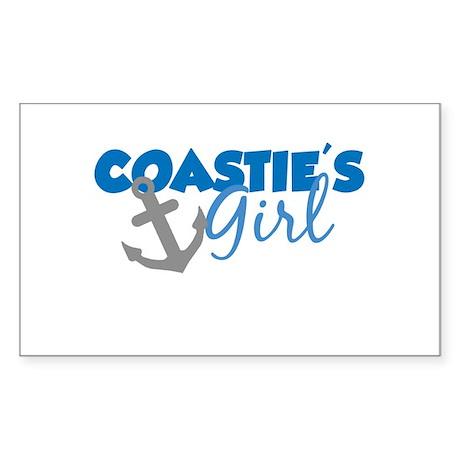 Coastie's Girl (Blue) Rectangle Sticker
