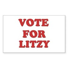 Vote for LITZY Rectangle Decal