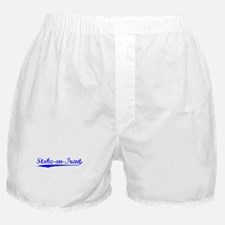 Vintage Stoke-on-T.. (Blue) Boxer Shorts