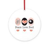 Peace love pool Ornaments