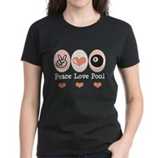Peace Love Pool 8 Ball Tee