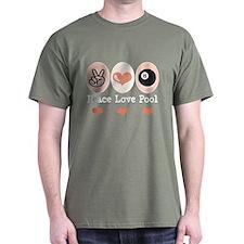 Peace Love Pool Eight Ball T-Shirt