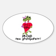Grandparent of Girl Oval Decal