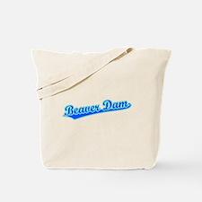 Retro Beaver Dam (Blue) Tote Bag