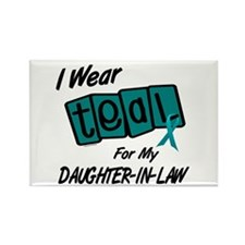 I Wear Teal 8.2 (Daughter-In-Law) Rectangle Magnet