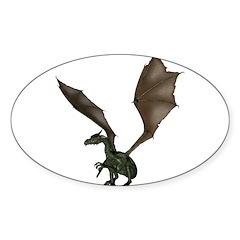 Dragon 8 Oval Sticker (10 pk)