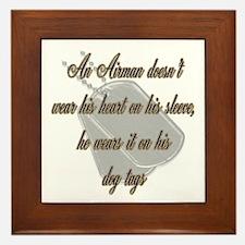 His Heart Airman Framed Tile