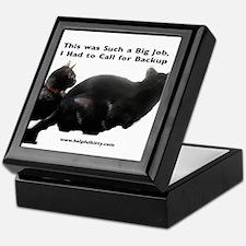 Backup Helpful Kitty Keepsake Box