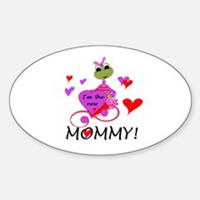 Frog New Mommy Oval Decal