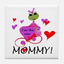 Frog New Mommy Tile Coaster
