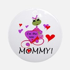 Frog New Mommy Ornament (Round)