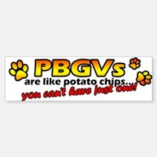 Potato Chips PBGV Bumper Bumper Bumper Sticker