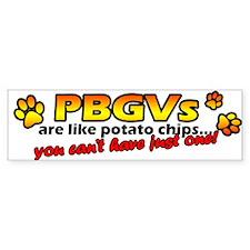Potato Chips PBGV Bumper Bumper Sticker