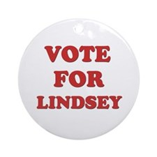 Vote for LINDSEY Ornament (Round)