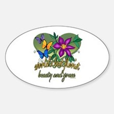 Beautiful Florist Oval Decal