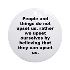 Cute Albert ellis quote Ornament (Round)