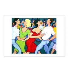 Two Stepping Cajun Dance Postcards (Package of 8)