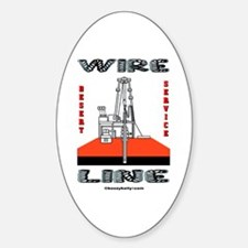 Wireline Oval Decal