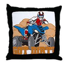 Got Dirt ATV Throw Pillow