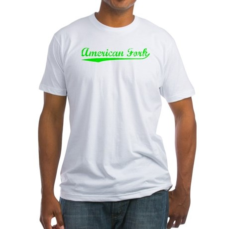 Vintage American F.. (Green) Fitted T-Shirt