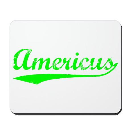 Vintage Americus (Green) Mousepad