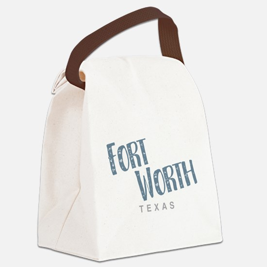 Fort Worth Texas Canvas Lunch Bag