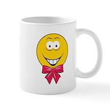 Gift Bow Smiley Face Mug