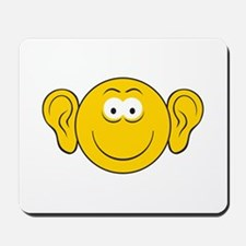 Big Ears Smiley Face Mousepad