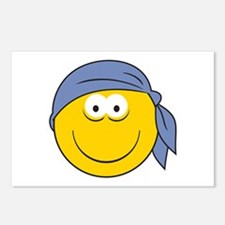 Bandana Smiley Face Design Postcards (Package of 8