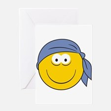 Bandana Smiley Face Design Greeting Card
