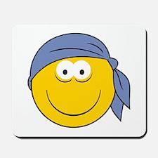 Bandana Smiley Face Design Mousepad