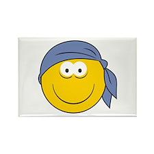 Bandana Smiley Face Design Rectangle Magnet