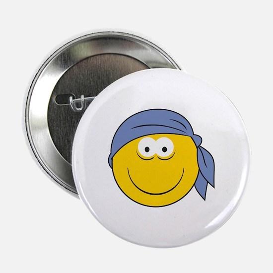 """Bandana Smiley Face Design 2.25"""" Button"""