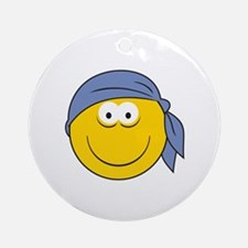 Bandana Smiley Face Design Ornament (Round)