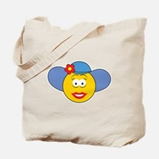 Girl Smiley Face With Hat Tote Bag