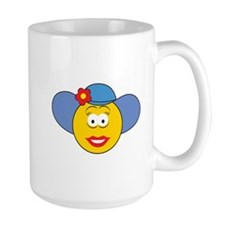 Girl Smiley Face With Hat Mug