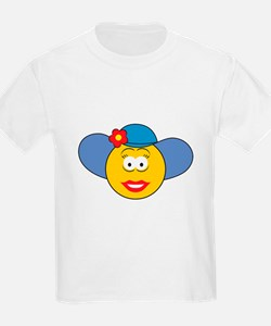 Girl Smiley Face With Hat T-Shirt
