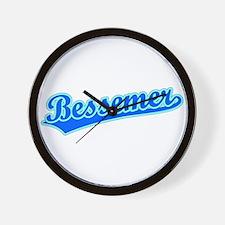 Retro Bessemer (Blue) Wall Clock
