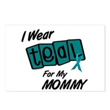 I Wear Teal 8.2 (Mommy) Postcards (Package of 8)