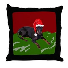 Manchester Christmas Throw Pillow