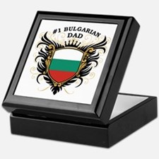 Number One Bulgarian Dad Keepsake Box