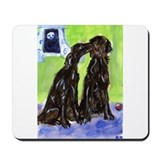 Flat coated retriever art Classic Mousepad