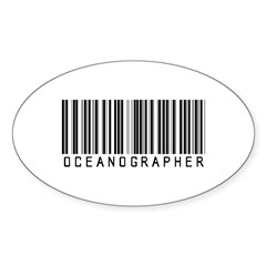 Oceanographer Barcode Oval Decal