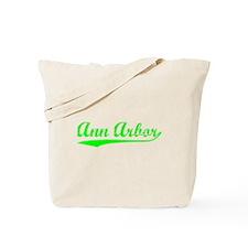 Vintage Ann Arbor (Green) Tote Bag