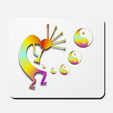 Kokopelli with Yin Yang #2 Mousepad